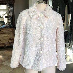 Cherokee Ivory faux fur jacket large